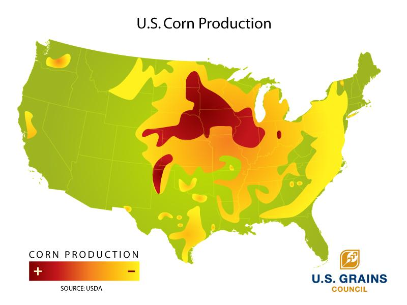 Two Maps I Have Been Saving For Some Time Agriculturecom Community - Map of corn production in us