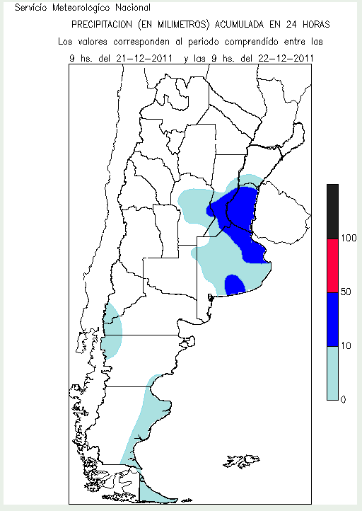 accumulated latest precipitations