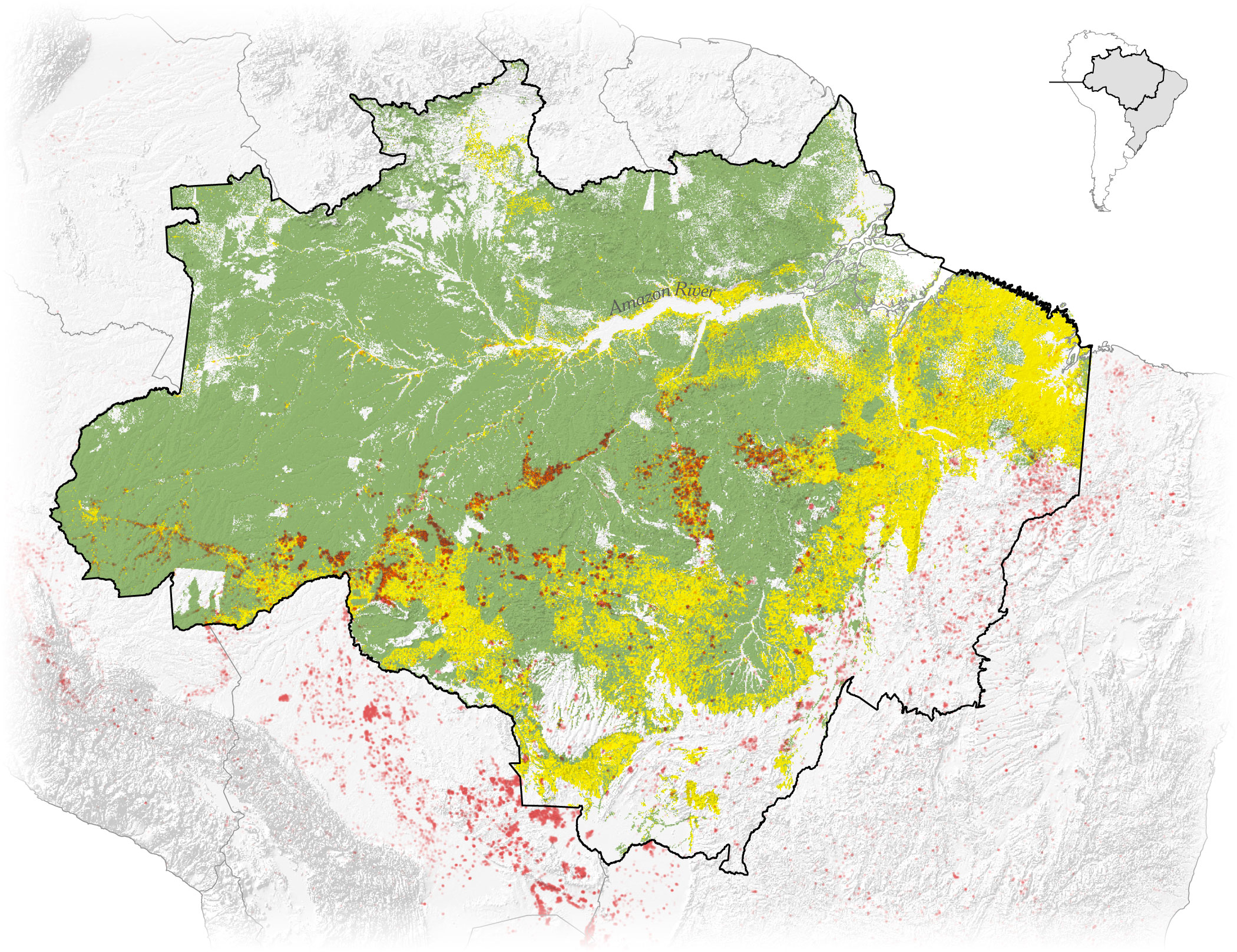 Brazilian soybean area expansion in real time, sat
