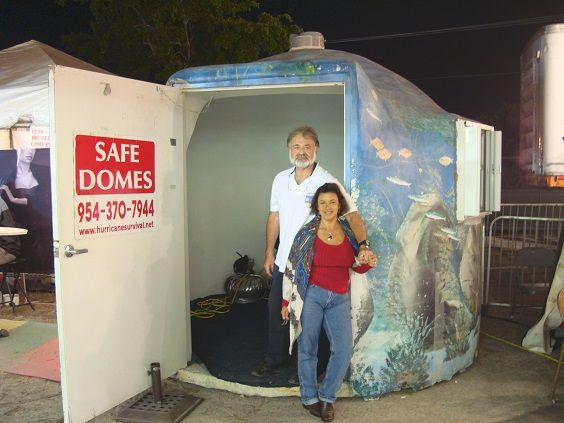 Portable tornado proof safedome