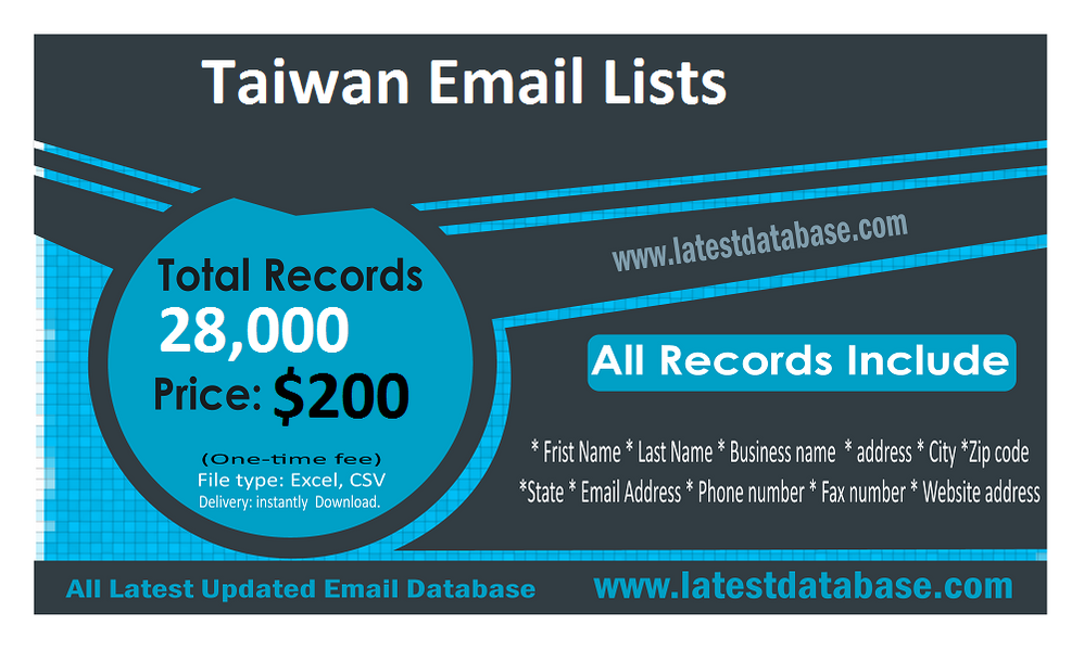 Taiwan-Email-Lists