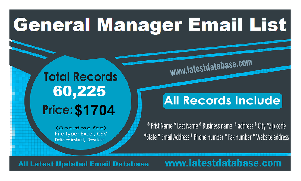 General-Manager-Email-List